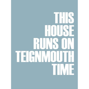 Teignmouth Time Typographic Print Coastal Wall Art by SeaKisses