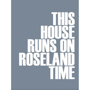 Roseland Time Typographic Wall Art by SeaKisses