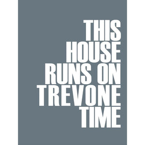 Trevone Time Typographic Print Coastal Wall Art by SeaKisses