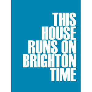 Brighton Time Typographic Coastal Art Print by SeaKisses
