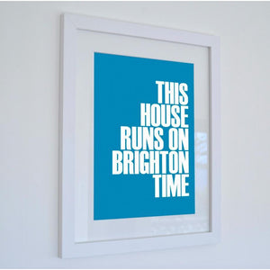 Brighton Time Typographic Print - Coastal Wall Art-SeaKisses