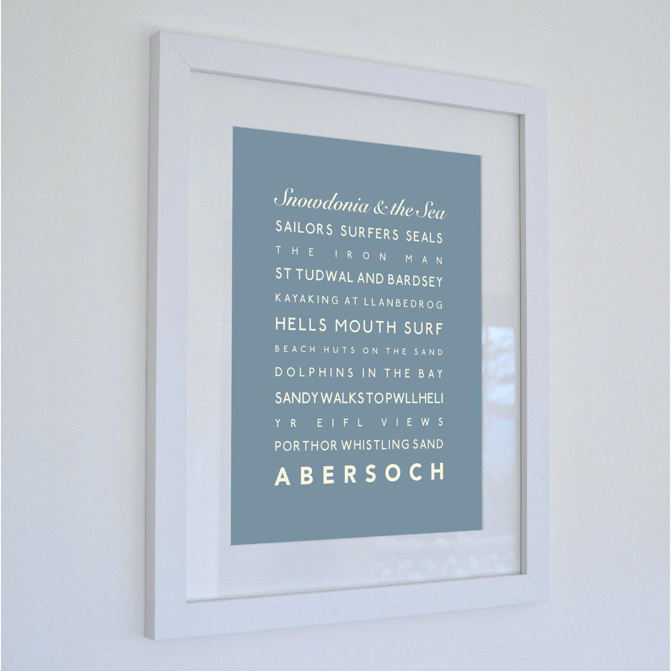 Abersoch Typographic Seaside Print - Coastal Wall Art /Poster-SeaKisses