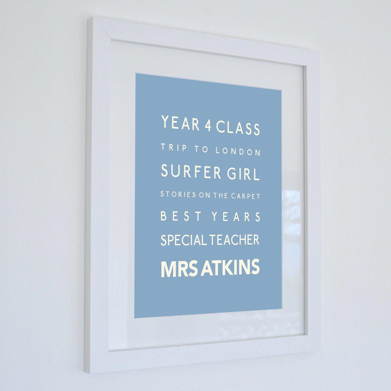 Bespoke Framed Print (Write your own lines)-SeaKisses