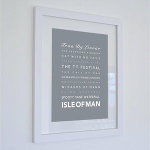 Isle of Man Typographic Travel Print - Coastal Wall Art /Poster-SeaKisses