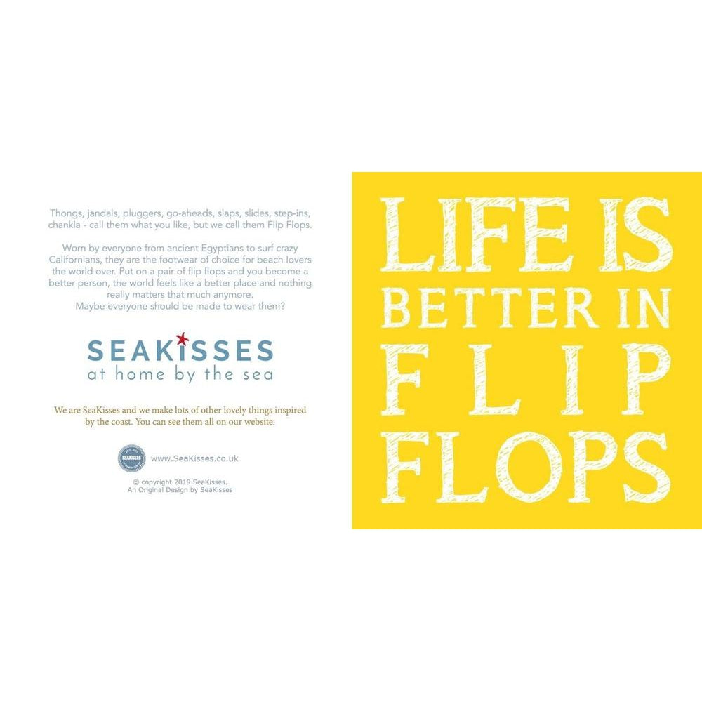 4aa0a55b5 Life is Better in Flip Flops Greeting Card - SeaKisses