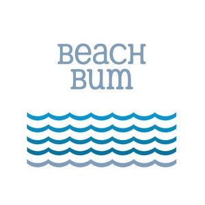 Beach Bum - Greeting Card