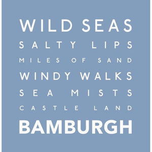 Bamburgh - Greeting Card-SeaKisses