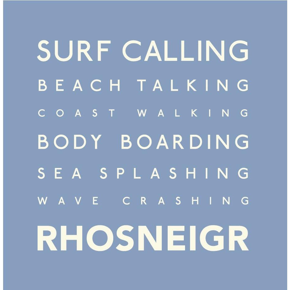 Rhosneigr Typographic GreetingCard by SeaKisses