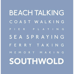 Southwold Typographic Travel Greeting card
