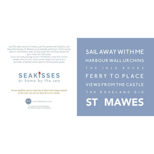 St Mawes - Greeting Card-SeaKisses
