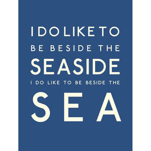 Beside the Sea Typographic Travel Print- Coastal Wall Art /Poster-SeaKisses