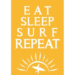 Eat Sleep Surf Repeat Print - Coastal Wall Art /Poster-SeaKisses