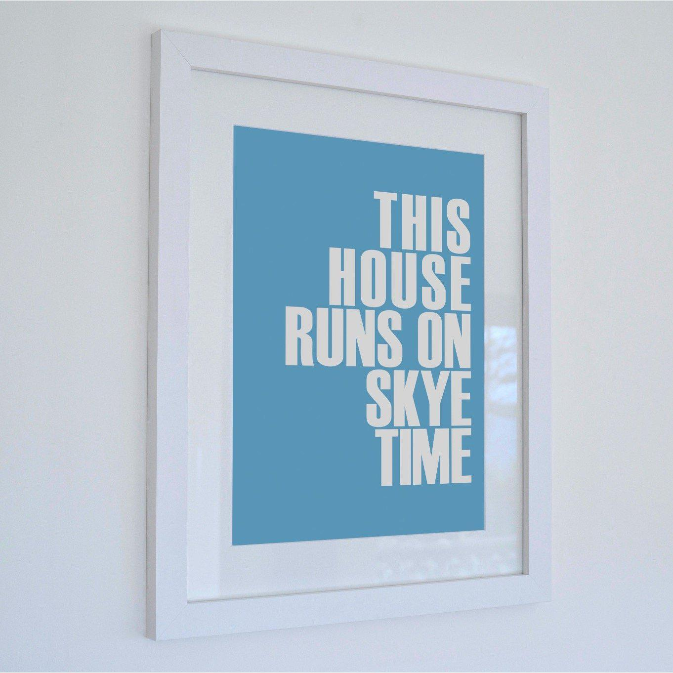 Skye Time Typographic Seaside Print - Coastal Wall Art /Poster-SeaKisses