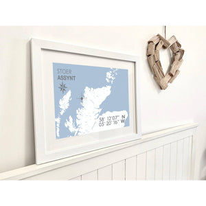Stoer Map Travel Print- Coastal Wall Art /Poster-SeaKisses