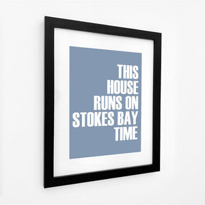 Stokes Bay Time Typographic Print - Coastal Wall Art /Poster-SeaKisses
