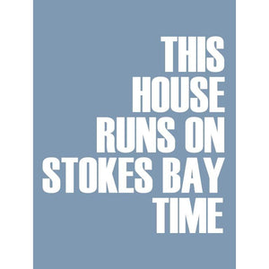Stokes Bay Typographic Travel and Seaside Print by SeaKisses
