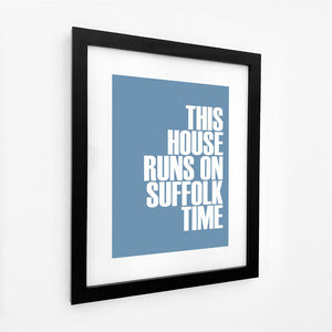 Suffolk Time Typographic Travel Print - Coastal Wall Art /Poster-SeaKisses