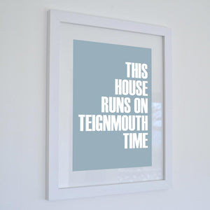 Teignmouth Time Typographic Seaside Print - Coastal Wall Art /Poster-SeaKisses