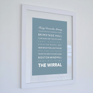 The Wirral Typographic Seaside Print - Coastal Wall Art /Poster-SeaKisses