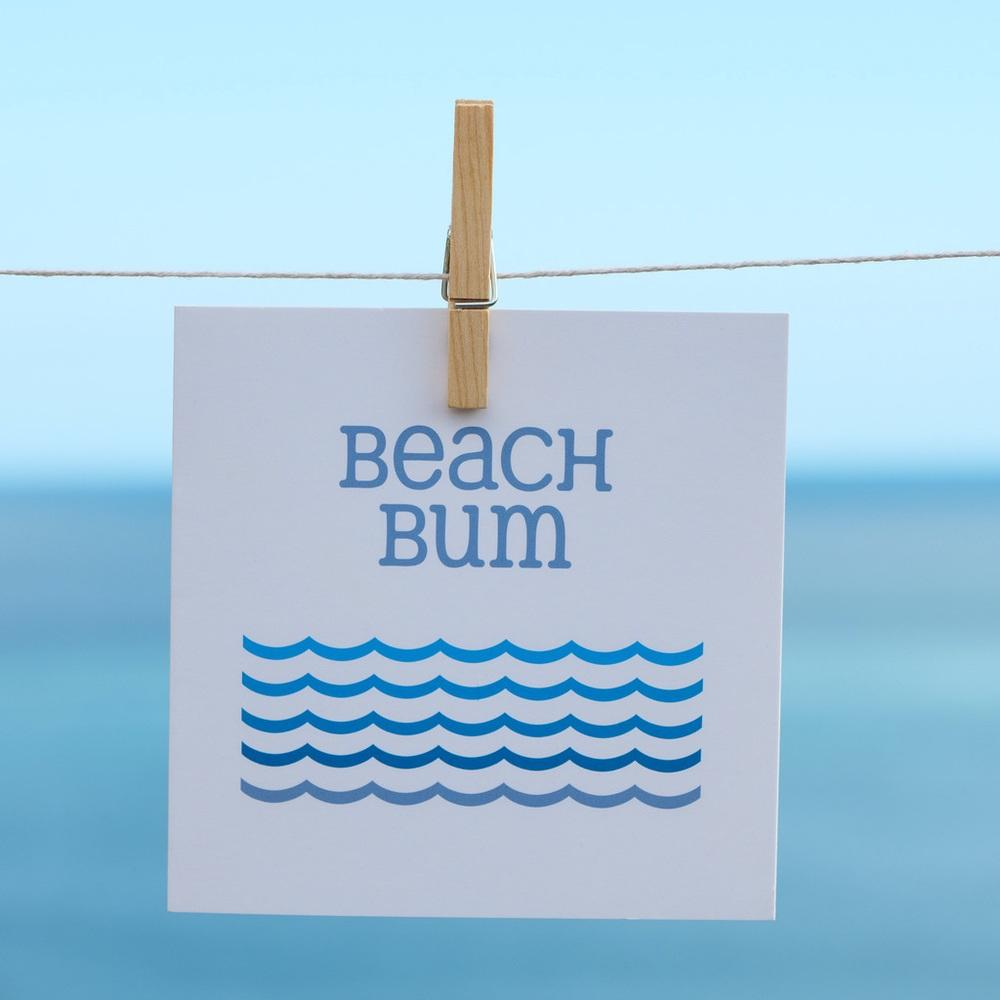 Beach Bum Coastal Greeting Card by SeaKisses