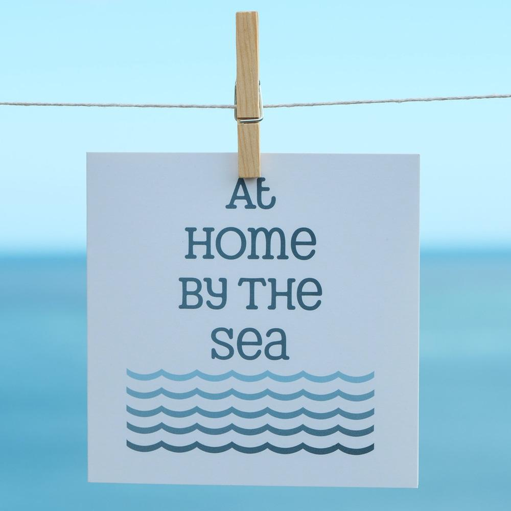 Home By The Sea Greeting Card Coastal Design by SeaKisses