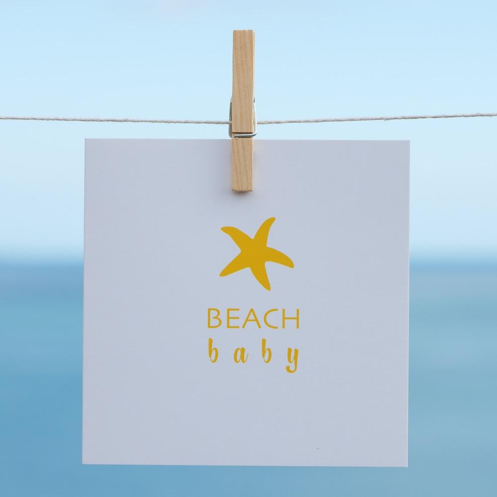 Beach Baby Coastal Greeting Card by SeaKisses