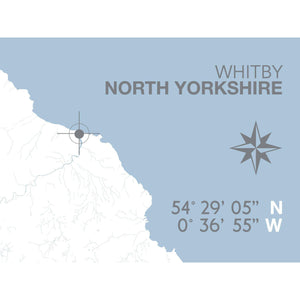 Whitby Map Travel Print- Coastal Wall Art /Poster-SeaKisses