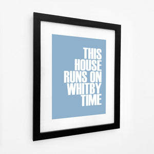 Whitby Time Typographic Seaside Print - Coastal Wall Art /Poster-SeaKisses