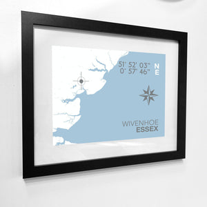 Wivenhoe Map Travel Print- Coastal Wall Art /Poster-SeaKisses