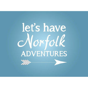 Norfolk Adventures Typographic Travel Print - Coastal Wall Art - Poster-SeaKisses