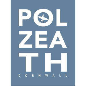 Polzeath Typographic Seaside Word Print - Coastal Wall Art /Poster-SeaKisses