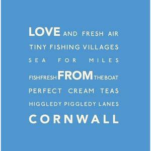 Love From Cornwall - Greeting Card-SeaKisses