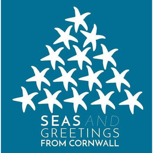 The Cornwall Christmas Card - Blue - Pack 5
