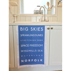 Norfolk Tea Towel - Coastal Kitchen Design-SeaKisses