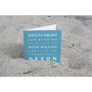 Devon Typographic Greeting Card-SeaKisses