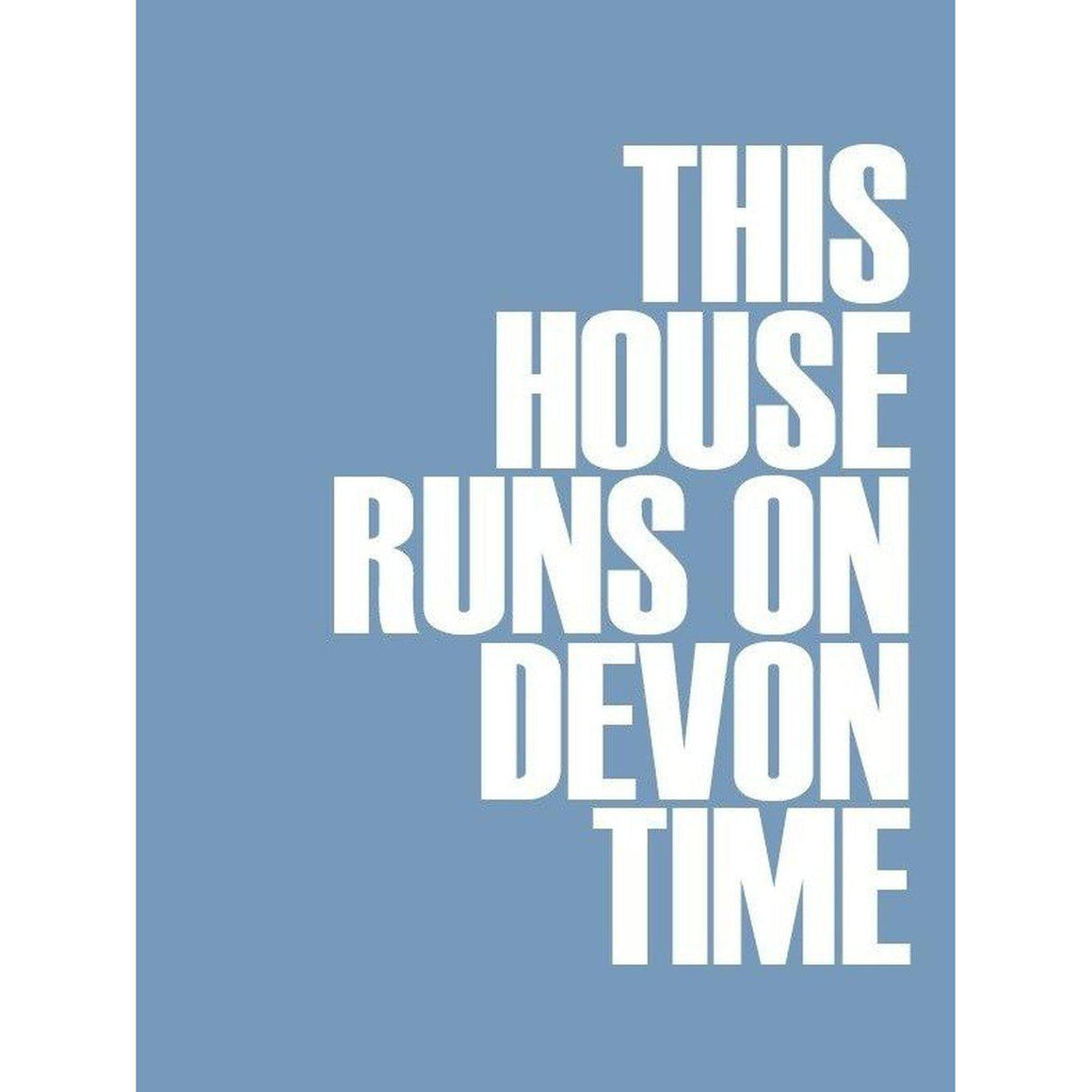 Devon Time Typographic Print - Coastal Wall Art-SeaKisses