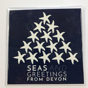 The Devon Christmas Card - Blue - Pack 5-SeaKisses