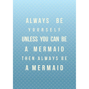 Mermaid Poem Typographic Print - Coastal Wall Art /Poster-SeaKisses