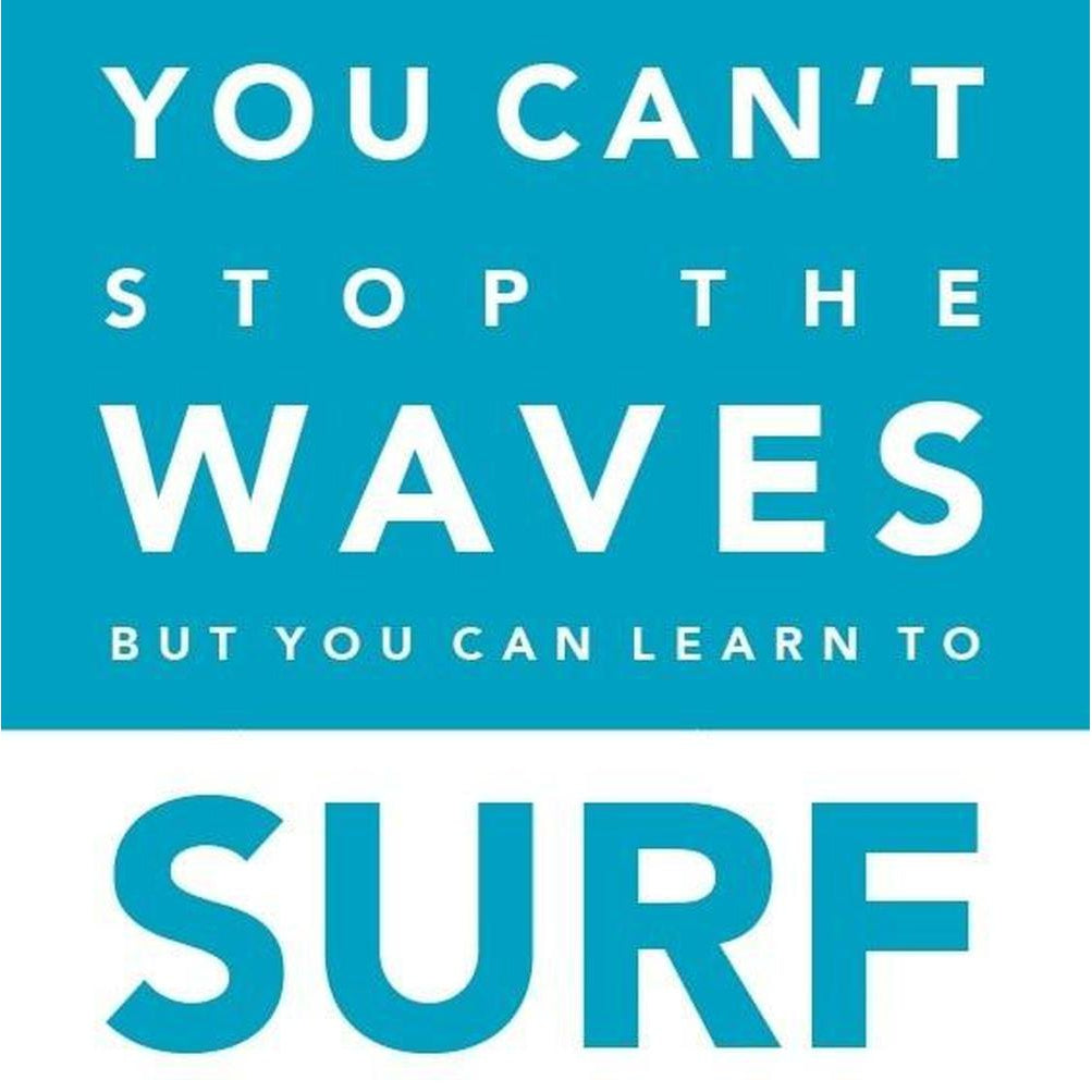 You Can't Stop the Waves Coastal Greeting Card