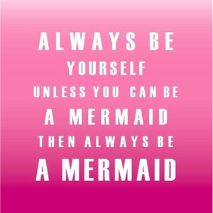 Mermaid - Typographic Greeting Card