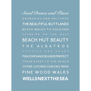 Wells Next the Sea Typographic Travel Print- Coastal Wall Art /Poster-SeaKisses