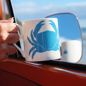 Crab Mug Fine Bone China Coastal Design by SeaKisses