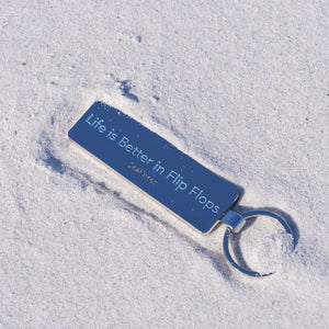 Key Ring - Life is Better in Flip Flops-SeaKisses