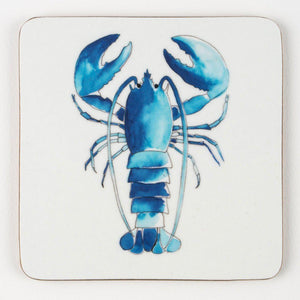 Coastal Coaster Blue and White Lobster Design by SeaKisses