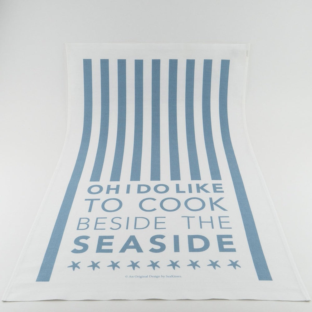 Cook Beside The Sea Coastal Tea Towel-SeaKisses