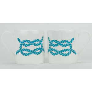 Rope Mug - Large Fine Bone China Coastal Design-SeaKisses