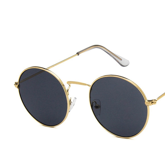 Xinfeite Sunglasses Classic Vintage Metal Round Frame
