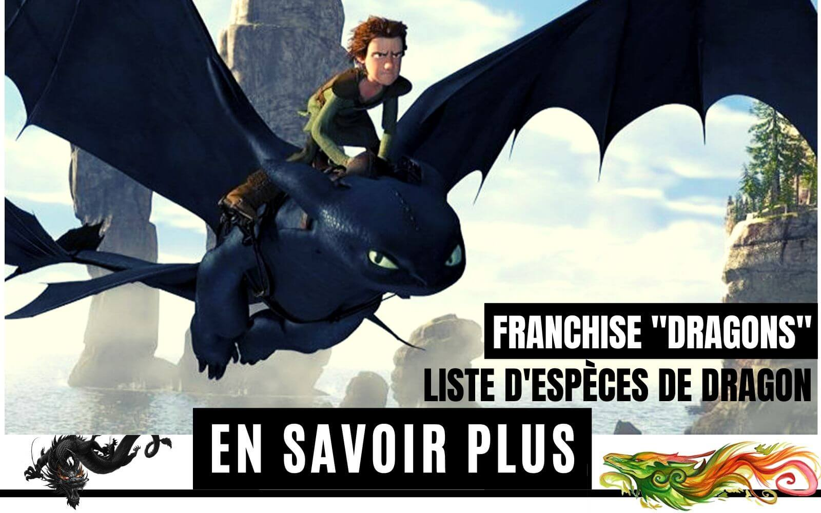 Liste d'espèces de dragon de la Franchise Dragons