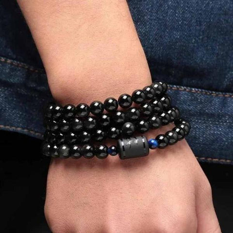 bracelet-dragon-pierre-obsidienne-noir