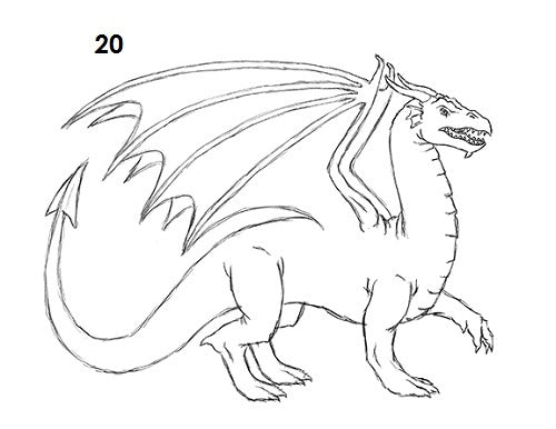 Etape 20 dessiner un dragon